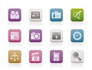 web site, computer and business icons - vector icon set