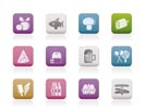 food, drink and shop icons - vector icon set