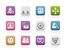 Internet Community and Social Network Icons - vector icon set