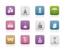 Party and holidays icons - vector icon set