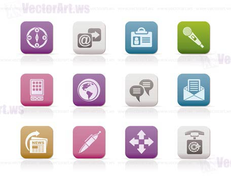 Business, office and internet icons - vector icon set