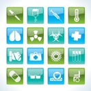 collection of medical themed icons and warning-signs - Vector Icon Set