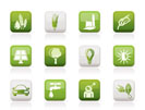 Ecology, environment and nature icons - vector illustration
