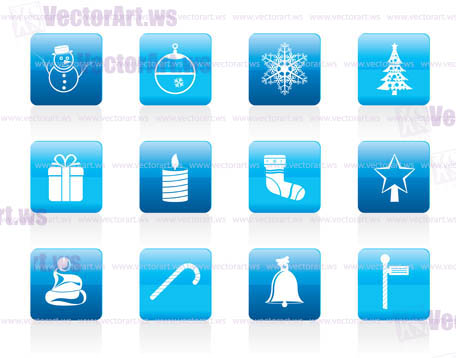 Beautiful Christmas And Winter Icons - Vector Icon Set