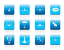 different types of Aircraft Illustrations and icons - Vector icon set 2