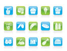 Dairy Products - Food and Drink icons - vector icon set