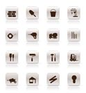 Construction and Building Icon Set. Easy To Edit Vector Image.