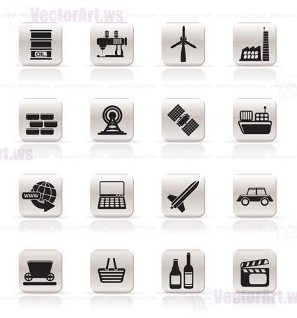 Simple Business and industry icons - Vector Icon Set