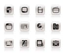 Simple Media icons - Vector Icon Set