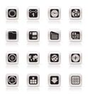 Simple Mobile Phone, Computer and Internet Icons - Vector Icon Set