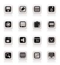 Simple Business, Office and Finance Icons - Vector Icon Set