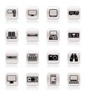Simple Hi-tech equipment icons - vector icon set 2