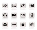 Simple Hi-tech technical equipment icons - vector icon set 3