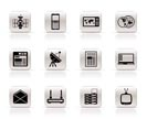 Simple Communication and Business Icons - Vector Icon Set
