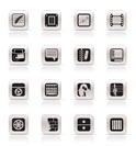Simple Business, Office and Mobile phone icons - Vector Icon Set