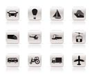 Simple Transportation and travel icons - vector icon set
