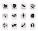 Simple Car Parts and Services icons - Vector Icon Set 2