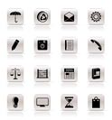 Simple Business and Office internet Icons - Vector icon Set