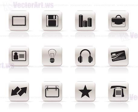 Office and business icons - vector icon set