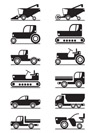 Agricultural machinery icons - vector illustration