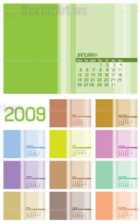 12 pages calendar 2009   12
