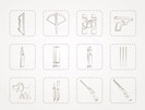 Hunting and arms Icons - Vector Icon Set