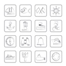 Marine, sea and nautical icons - vector icon set