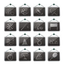 Sport equipment icons - vector icon set