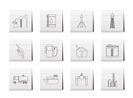 Oil and petrol industry icons - vector icon set