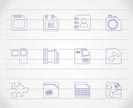 Mobile Phone, Computer and Internet Icons - Vector Icon Set