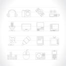 Media equipment icons - vector icon set