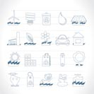 Ecology and nature icons - vector icon set