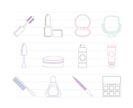 cosmetic and make up icons - vector icon set