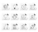 Atomic and Nuclear Energy Icons - vector icon set