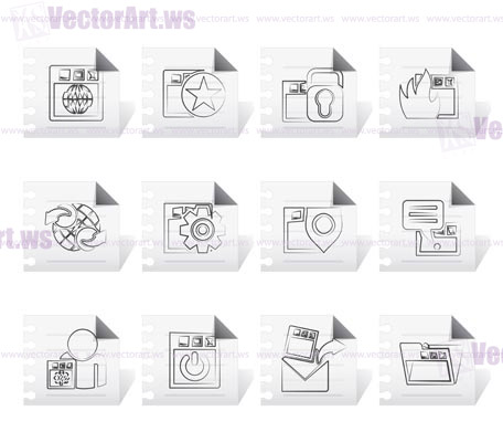 Internet, website and  Security Icons - vector icon set