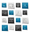 Computer Games tools and Icons - vector icon set Computer Games tools and Icons - vector icon set