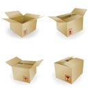 shipping box vector and Box Icon and Signs