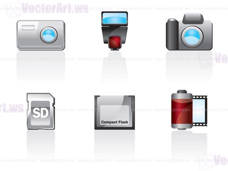 Photo Icon Set One. Easy To Edit Vector Image