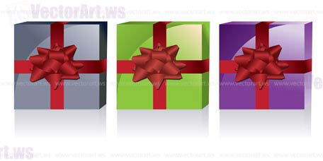 different kinds of gift boxes - vector illustration