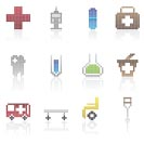 Medical and healtcare Pixel Icons - vector icon set