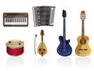 Music instrument Icons - vector icon set
