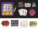casino and gambling tools icons - vector icon set