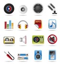 Music and sound Icons- vector icon Set