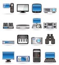 Hi-tech equipment - vector icon set 2