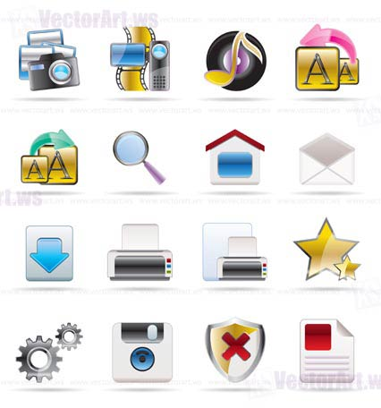 Internet and Website Vector Icon Set