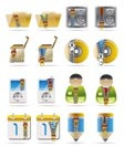 Internet, Business and Office Creative  Icon with Zipper - Set 2
