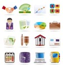 Finance, Business and office icons - vector icon set