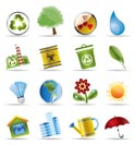 Realistic Icon - Ecology - Set for Web Applications - Vector