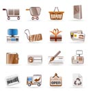 Online Shop and web site icons - Vector Icon Set