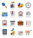 Business and Office Realistic Internet Icons - Vector Icon Set 3